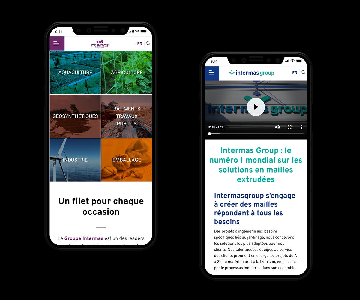site mobile intermas marque et groupe