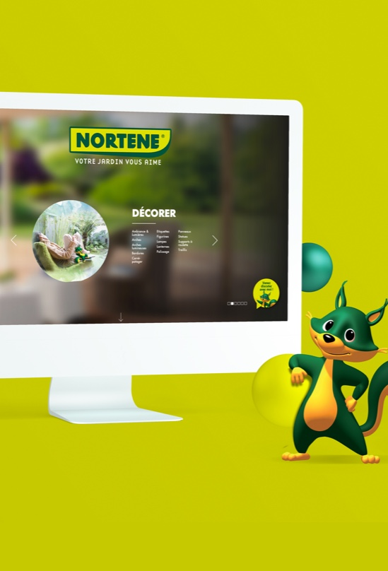 Ordinateur site web Nortene