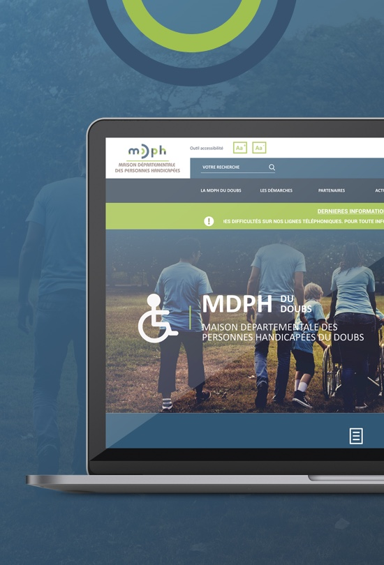 ordinateur site institutionnel MDPH
