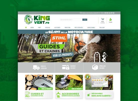boutique en ligne king vert