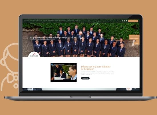 ordinateur site web cours hotelier