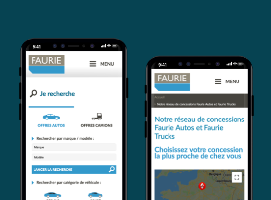 site web mobile groupe faurie