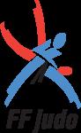 logo FF Judo bleu rouge