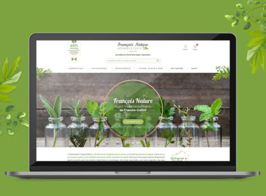 Site web herboristerie François nature