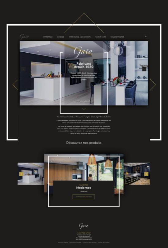 site web cuisine gaio