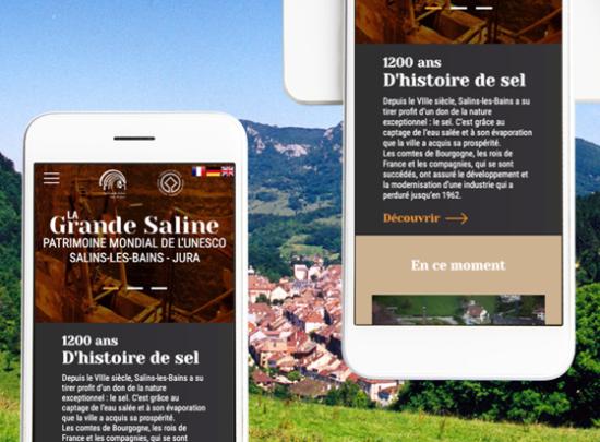 mobile site web grandes salines