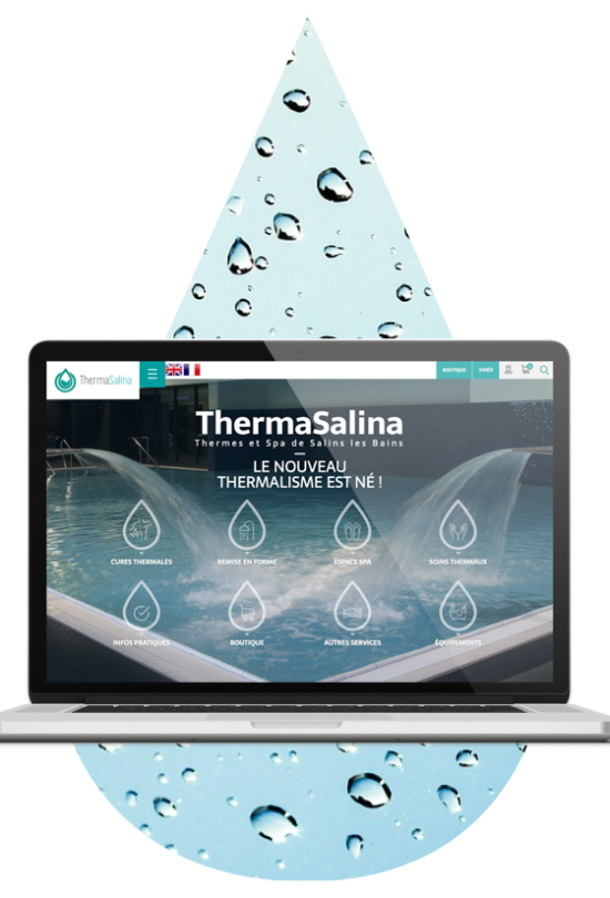ordinateur site web therma salina