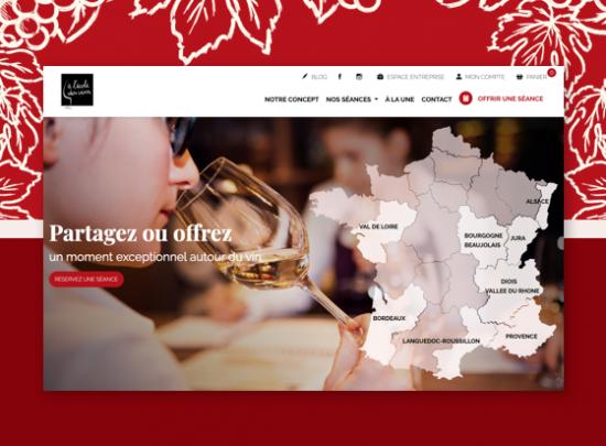 page accueil a lecole des vins