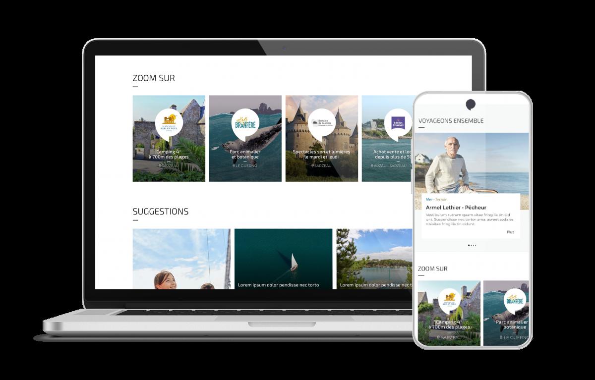 refonte graphique site Vannes tourisme