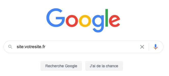 trouver pages index google