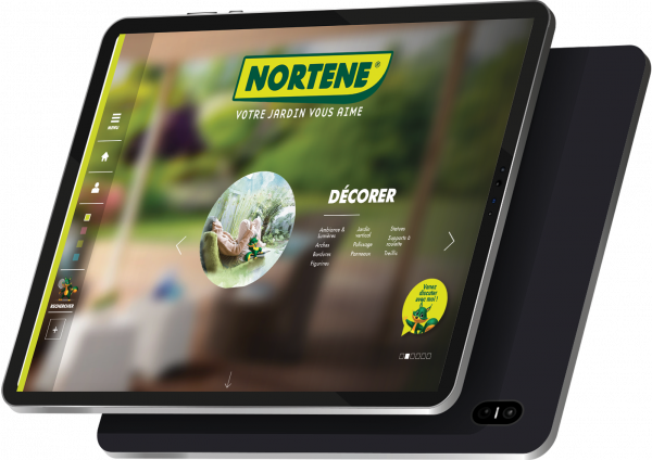 site nortene sur tablette