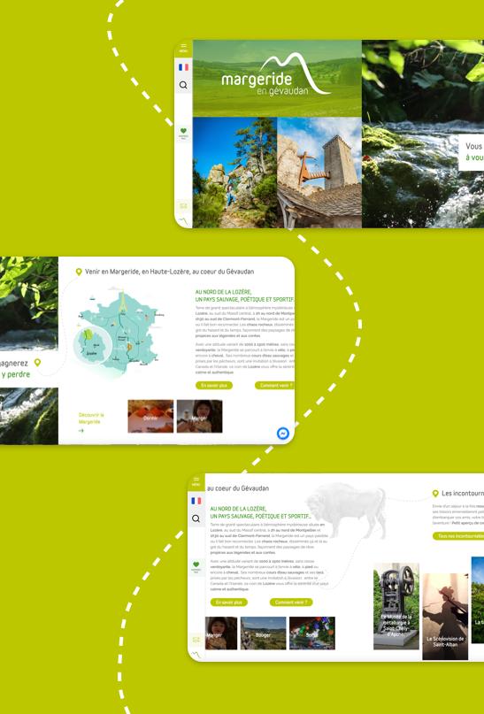 site web tourisme margeride