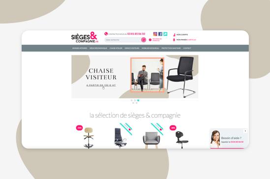 site e-commerce sieges et compagnie
